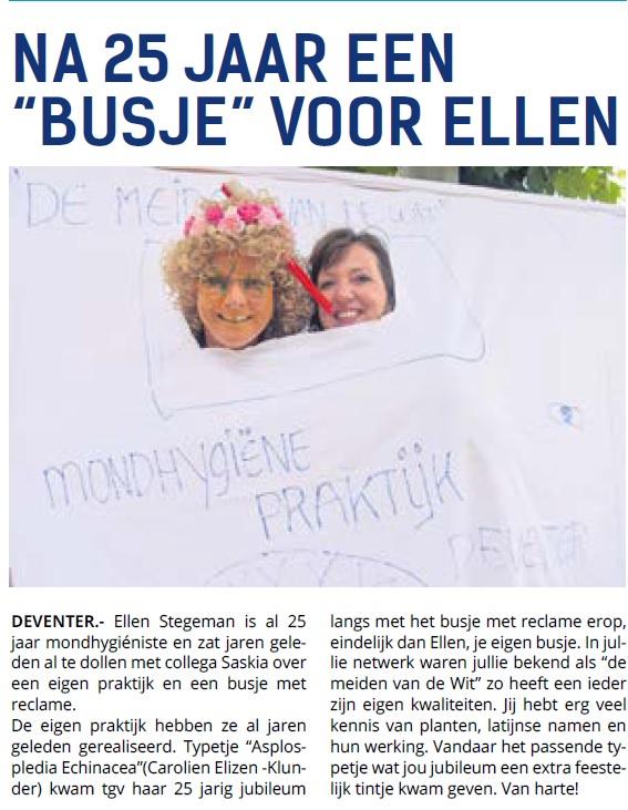 Mondhygieniste Ellen Voorster Nieuws